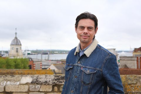 Daniel Crow, director of 'a space' arts at God's House Tower on Town Quay Road, Southampton.