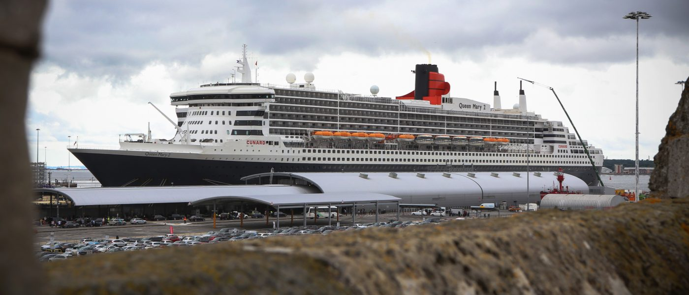 QM2 FROM GHT ROOF - image copyright of a space arts