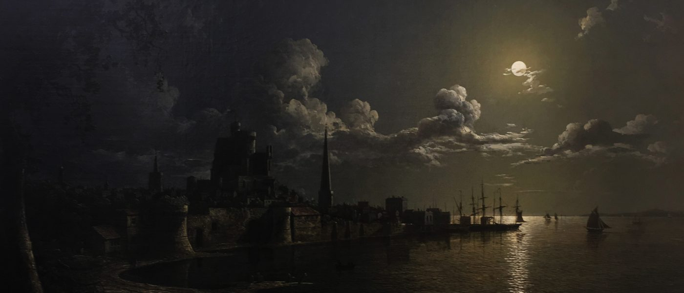 Sebastian Pether, Moonlight Scene, Southampton City Art Gallery.