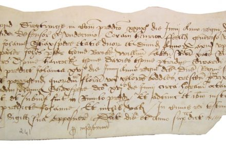 Coroner's inquest report on the drowning of Jane Shaxspere at Upton Warren, Worcestershire, in 1569.