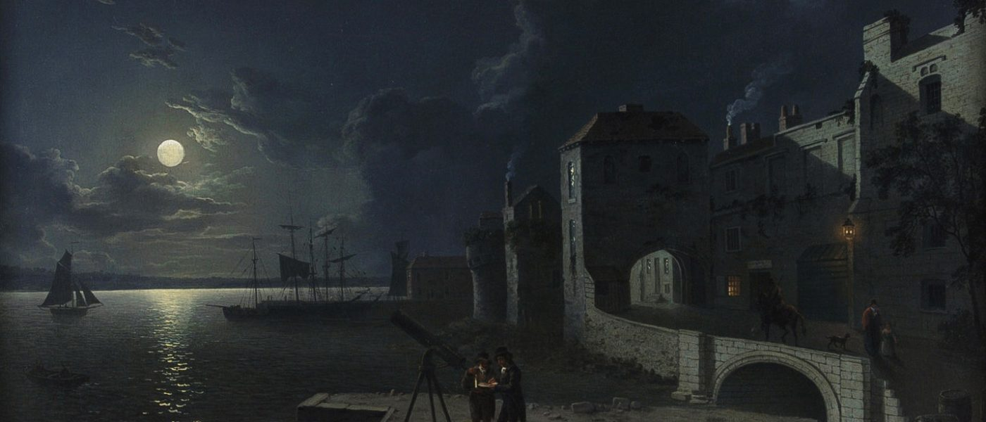 'God's House Tower by Moonlight' by Abraham Pether 1766 – 1812. Credit: Hampshire Cultural Trust/Hampshire County Council